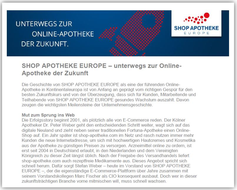 Background SHOP APOTHEKE EUROPE